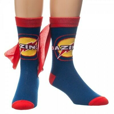 Big Bang Theory Caped Socks Brand New