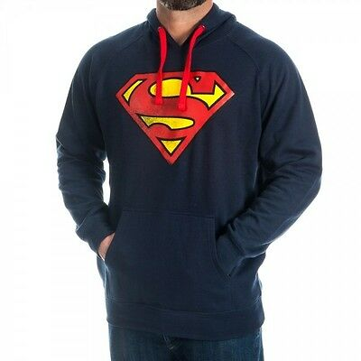 Superman Logo Navy Hoody XXL Brand New