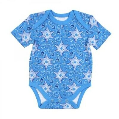Wrangler Infant's Blue All Around Sheriff Body Suit PQK152B
