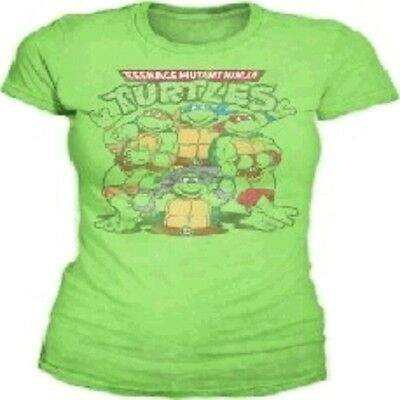 Teenage Mutant Ninja Turtles Group Jrs Kelly Tee Medium Brand New