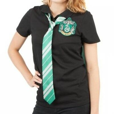 Harry Potter Slytherin Caped Polo  L Brand New