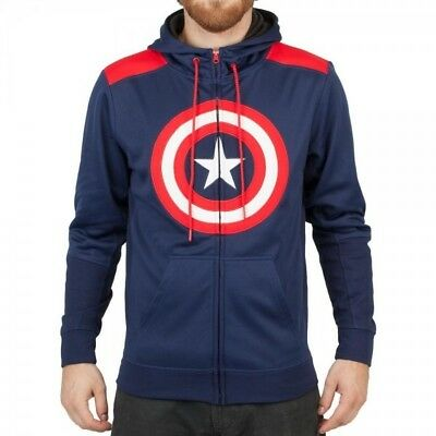 Marvel Captain America Poly Hoodie L Brand New