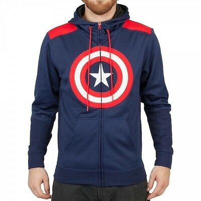 Marvel Captain America Poly Hoodie S Brand New