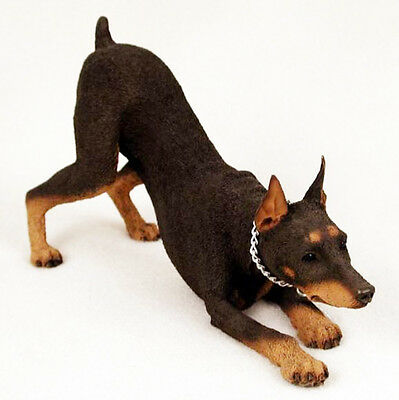 DOBERMAN PINSCHER (RED) MY DOG Figurine Statue Pet Lovers Gift Hand Painted
