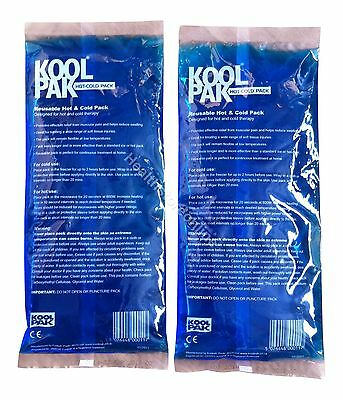 2x Hot & Cold Packs 12x29 Reusable - Back Pain - Gel Heat Pack- Sprained Muscles