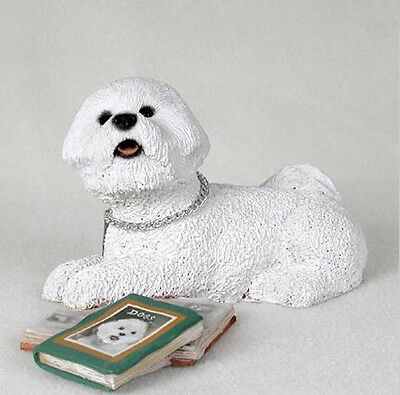 BICHON FRISE MY DOG Figurine Statue Pet Lovers Gift Hand Painted