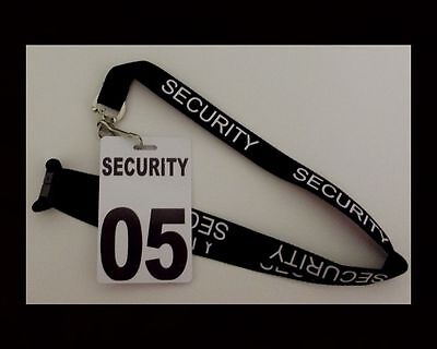 Security, Guard, Crowd Control, Lanyard with Crowd Controller Security number