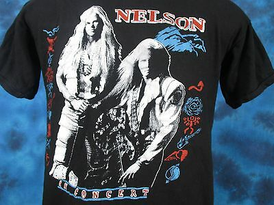 vintage 80s NELSON CONCERT T-Shirt XS hard rock glam hair metal tour thin