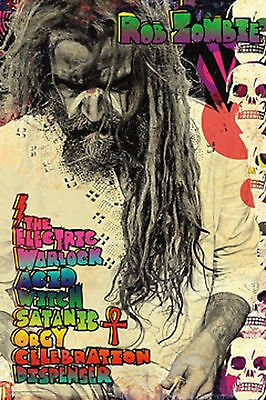 Rob Zombie Electric Warlock Poster New  !