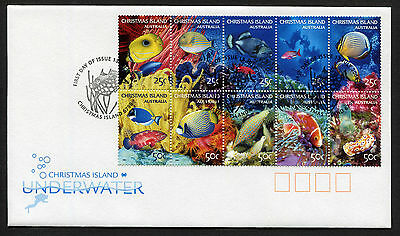 2004 Christmas Island Underwater #2 FDC First Day Cover Stamps Australia
