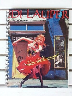for CYNDI LAUPER'S She's So Unusual MTV 1982 vintage FAN Album COVER NOTEBOOK