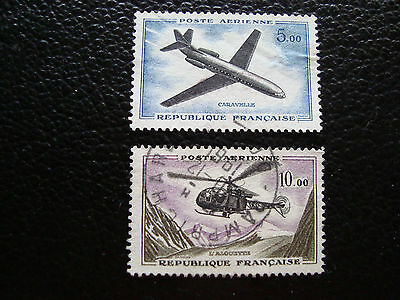 FRANCE - timbre yvert et tellier aerien n° 40 41 obl (A20) stamp french