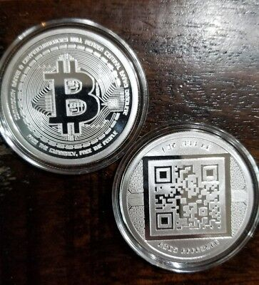 Bitcoin Proof 1 oz .999 silver commemorative coin AOCS limited Original 2012