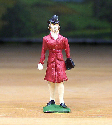 Pewter Railroad Figure People Lady / Woman Passenger Nos S Scale Train Layout