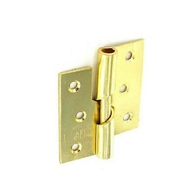 523582 Securit Rising Butt Tee Hinges RH Brass Plated (Pair) 75mm S4332