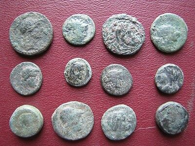 Authentic Ancient Greek Coins > 12 Uncleaned Greek Coins   9605