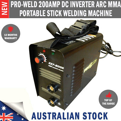 New Pro-Weld 200Amp DC Inverter ARC MMA Portable Stick Welding Machine Welder