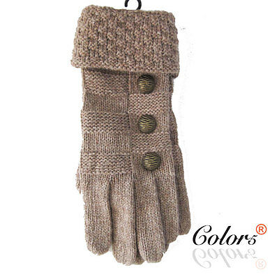 Color 5 New Ladies Winter Warm Vintage Knitted Gloves