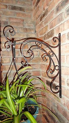 Plant hanger, Garden Decor, Decorative Wall Bracket, Wrought Iron, Metal Decor