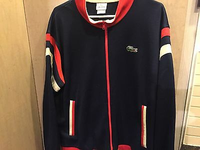 Vintage LACOSTE SPORT  90s Made in  MOROCCO Sz XL (8) BLUE/RED