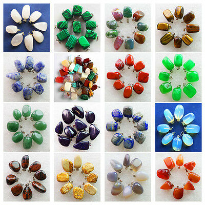 Wholesale Mixed Stone Tumbled Pendant Bead Choose 8 pcs Or 128 pcs