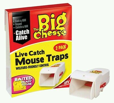 The Big Cheese Live Catch RTU Mouse Trap Twinpack