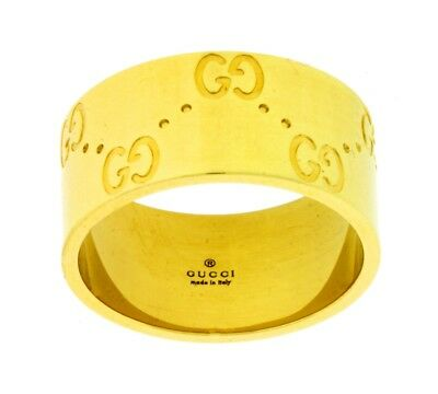 ed0f0239c Gucci Icon band ring in 18k yellow gold new in Gucci box Size 11 USA 5.75