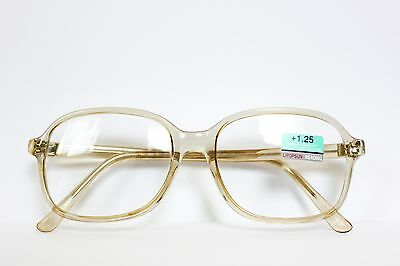 True Vintage Real Glass Reading Eye Glasses Clear Square Frame Real Glass Lens