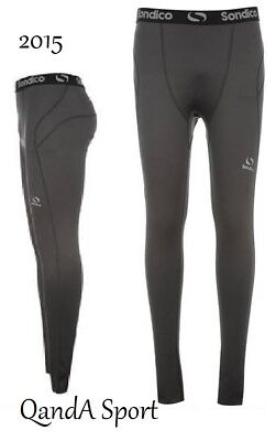 Compression Base Layer GREY Sondico Soccer Skins Tights Pants Size 13yrs Only