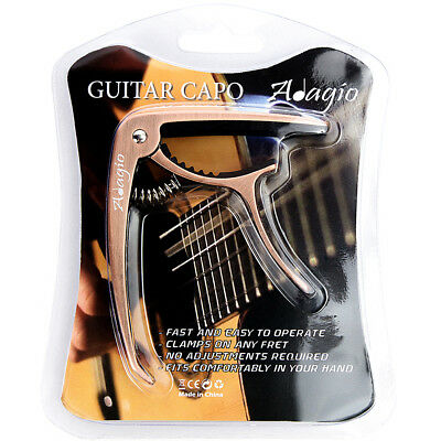 CAPO – For Acoustic, electric and classical guitars + banjo, bass BLK