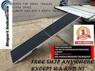 Extra Width Foldable Aluminium Alloy Pet/doggie/doggy Ramp, Non Slip Surface *1