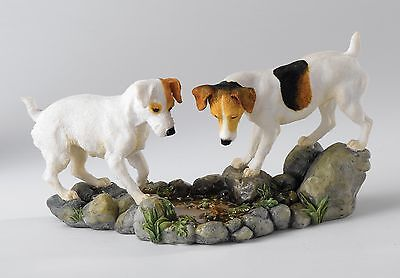 Border Fine Arts A25065 Jack Russell Terrier Dog Figurine How High 18838 NEW