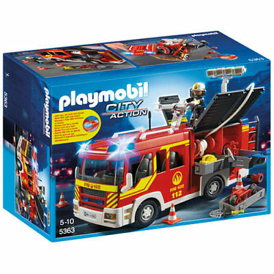 PLAYMOBIL 5363 Fire Engine with Lights and Sound - City