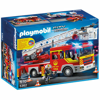 PLAYMOBIL Fire Ladder Unit with Lights and Sound - City 5362