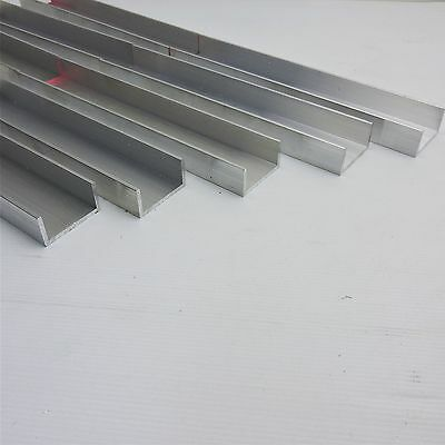 ".125 thick Aluminum CHANNEL 2"" wide 1"" leg 10.875 Long Pieces 5 sku 137704"