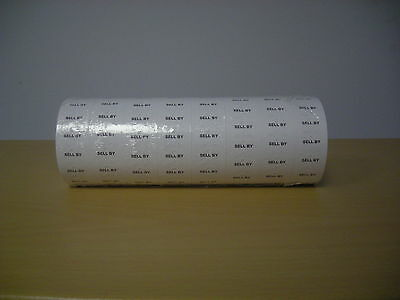 "8,000 Tags labels Refill for Motex MX-5500 1 line Price Gun White ""SELL BY"" labe"
