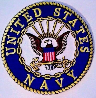 "U.S. Navy Patch 3"" Iron on or Sewn on"