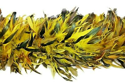 """SCHLAPPENS FEATHER BOA - BRIGHT YELLOW 72"""" Costume/Bridal/Halloween/Dance/Hats"""