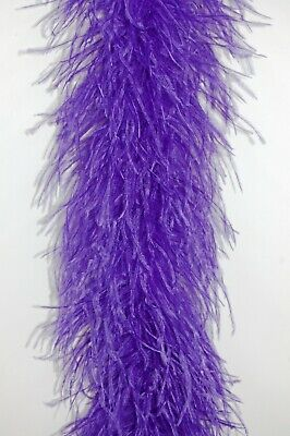 """4 Ply OSTRICH FEATHER BOA - PURPLE 2 Yards; Costumes/Hats/Craft/Bridal/Trim 72"""""""