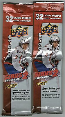 2009 - 2010 Upper Deck NHL Hockey Series 2 Trading Cards, 32 card Fat Pack x 2