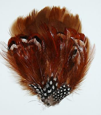 GOOSE FEATHER PAD - DARK BROWN; Headband-Hats-Grizzly-Hair-Bridal