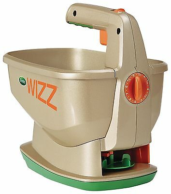 Scotts Wizz Hand-Held Spreader with Edge Guard and Handy Lock Technologies, New