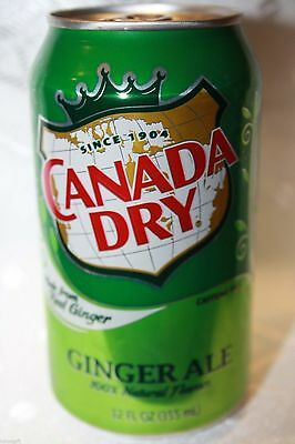 12 x USA Canada Dry Ginger Ale 355ml cans
