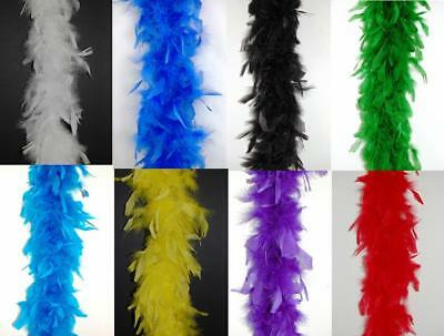 """80 Gram CHANDELLE FEATHER BOA Top Quality 72"""" MANY COLORS (Halloween/Bridal)"""