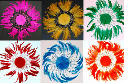 FULL PINWHEEL FEATHERS - Top Quality Hackle MANY COLORS (Halloween/Costume)