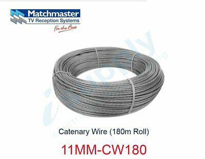 MATCHMASTER Catenary Wire (180m Roll)  11MM-CW180