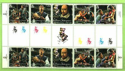 Pitcairn Islands 2016 William Shakespeare Gutter Pairs Mnh