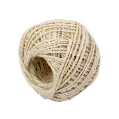 50M Wrap Gift Jute Rope Ribbon Twine Rope Cord String Ball White