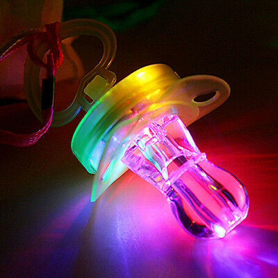 LED Flashing Nipple Glow Sticks Bar Cool Pacifier Whistle Party Fun Toy Outdoor