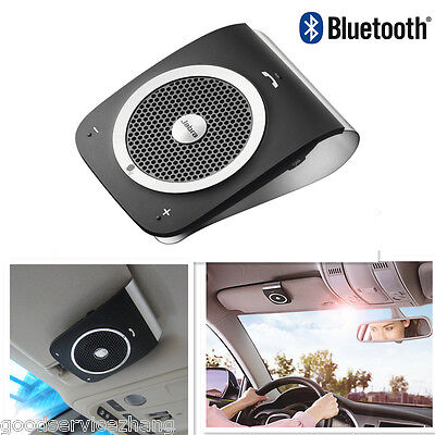 Voice Control Smart Handsfree Bluetooth Visor Car Kit For Mobile Phone iPhone 65